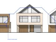 Approved: three new contemporary dwellings in Lower Parkstone, Poole