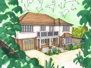 Approved: plot split to create two large detached houses in Canford Cliffs Village, Poole