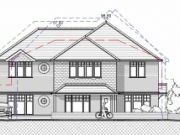 Approved at Planning Committee: three town houses in Highcliffe, Dorset