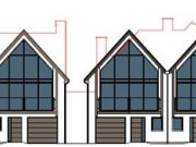 Approved: two pairs of semi-detached houses in Milford on Sea, Hampshire