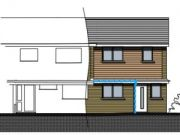Approved: new end-of-terrace house in Hamworthy, Poole