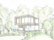 Won at appeal: contemporary dwelling on backland plot split in Branksome Park, Poole