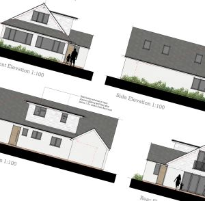 Whitecliff bungalow elevations planning permission