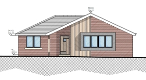 Shrewton Wiltshire bungalow planning appeal win elevation Anders Roberts