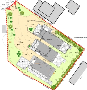 Lilliput Salterns proposed site plan planning consultant bournemouth