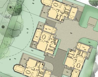Four houses planning permission Wimborne planning consultant dorset
