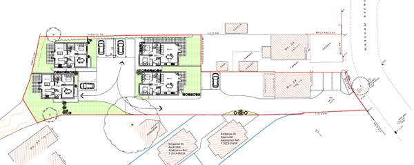 Approved four houses in Northbourne planning consultants bournemouth