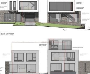 Approved: non-material amendment to two new dwellings in Poole