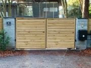 Won on appeal: permission to timber clad existing gates in  Branksome Park Conservation Area