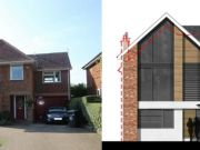 Approved: two storey extensions and house remodel in Henlow, Bedfordshire