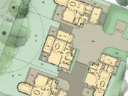 Approved: four new dwellings on a large garden in Wimborne Minster, Dorset