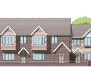 Approved: conversion of office to a terrace of three dwellings in Poole
