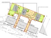 Approved: backland development  of three houses in Shelbourne Road, Bournemouth