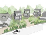 """Approved: Three new """"super homes"""" in Evening Hill, Poole"""