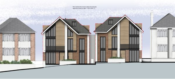 Four larger dwellings in Southbourne