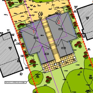 Penn Hill Lower Parkstone two detached planning permission