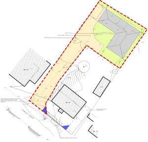 Planning approved backland garden Moordown
