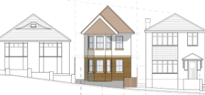 Approved detached dwelling Whitecliff Lower Parkstone Poole 1