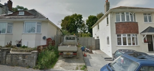 Approved detached dwelling Whitecliff Lower Parkstone Poole before 1
