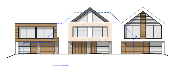 Poole planning approval three detached dwellings