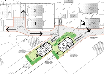 Two bungalows approved Bournemouth Borough planning permission