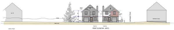 Approved dwellings at Four Marks planning consultant Winchester