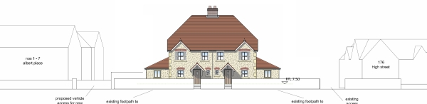Portishead two dwellings approved planning consultant Hampshire