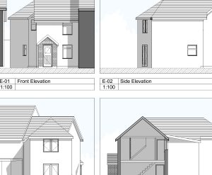 Approved: two storey rear extension to house in Upton, Dorset