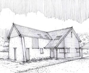 Approved: two detached dwellings in Three Legged Cross, Wimborne