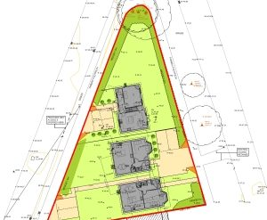 Approved: Replace existing bungalow with 3 detached dwellings at Gravel Hill, Poole