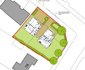 Approved: plot split with two houses in Talbot Woods, Bournemouth