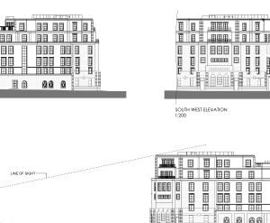 Approved: non-material amendment to install roof terrace on flats in Poole