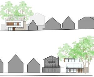 Approved: two replacement contemporary houses in Sandbanks, Poole