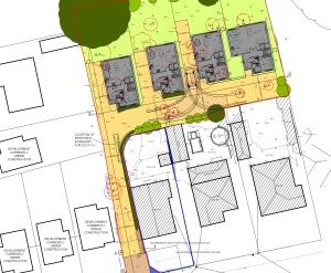 Approved: another four detached houses in Northbrook Road, Broadstone
