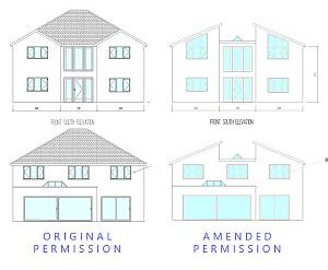 Approved: variation to new house in Corfe Mullen, Dorset
