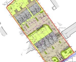 Won on appeal: demolition of two houses and erection of ten new houses in Weymouth